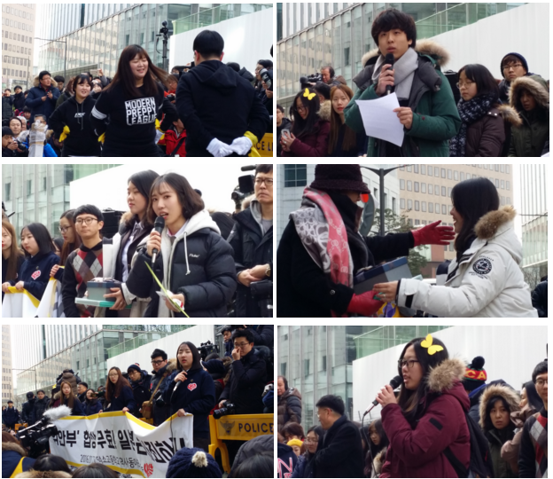 In the rally, students denounced the government and promised that they would fight.