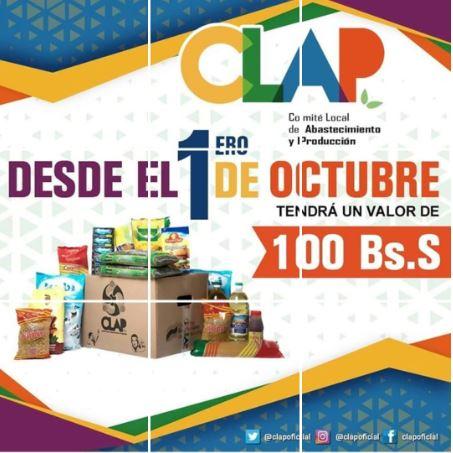 CLAP box. Source: Venezuela Embassy