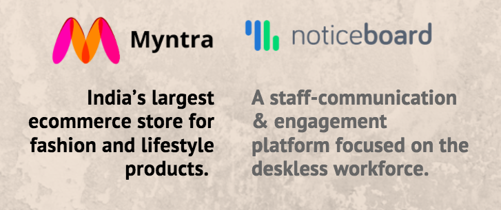 Digital trainings driven by Myntra, powered by Noticeboard.