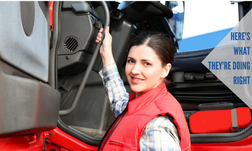 Learn from the masters on how they're attracting and retaining women truckers.