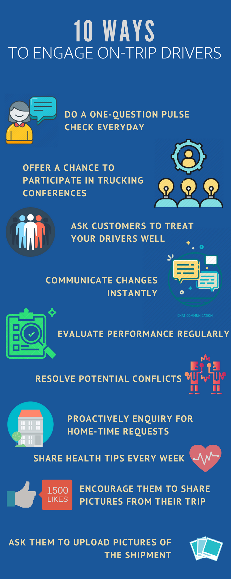 What are you doing to guarantee truck driver retention? Engage them beyond just the onboarding period.