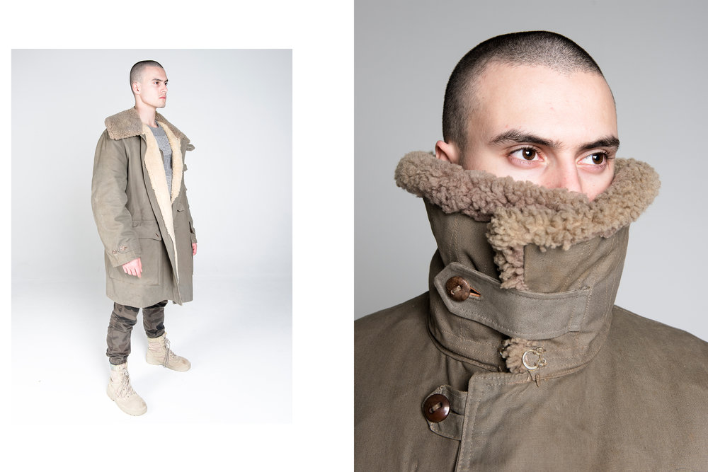 Mats Larson 1940 Military Look  modelled by Lou Squara. (2/5).