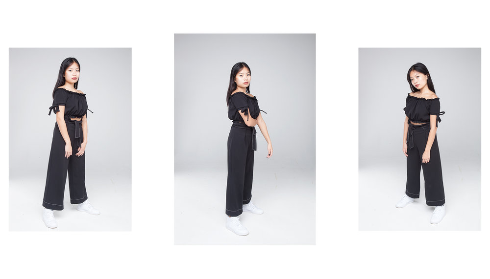 ALL BLACK modelled by Emily Tajima. (1/4)