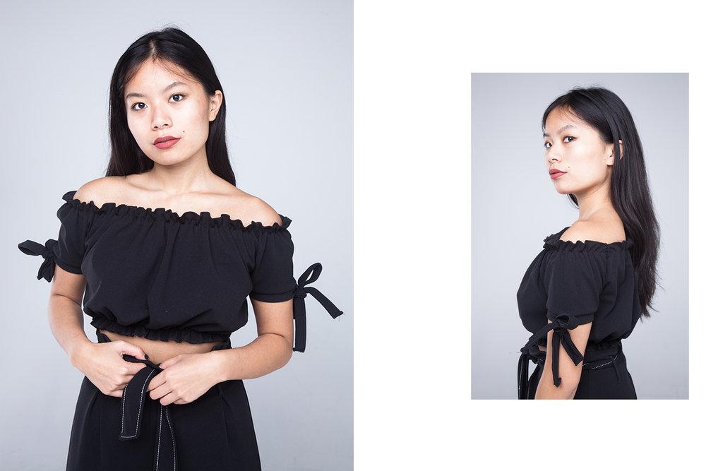 ALL BLACK modelled by Emily Tajima. (2/4)