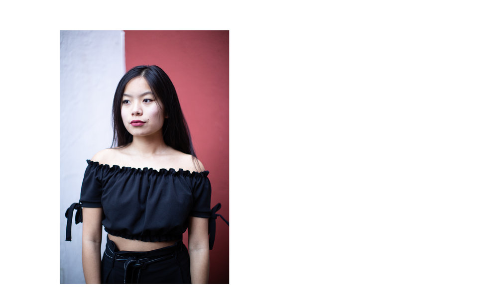 ALL BLACK modelled by Emily Tajima. (3/4)