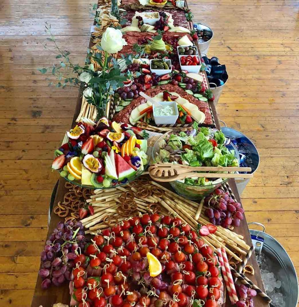 Grazing table :  Graze LHCD   What's a party without a mezze platter from Graze LHCD - cheeses, deli meats, fruits, nuts, crackers and more all beautifully displayed for whatever event you're hosting. Quality produce and exceptional service!  Check them out for events/catering/liquor   www.instagram.com/graze.lhcd