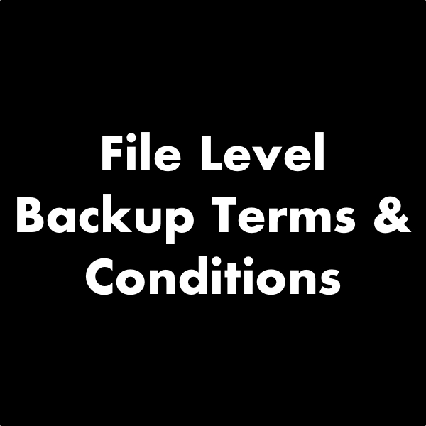 Backup Terms