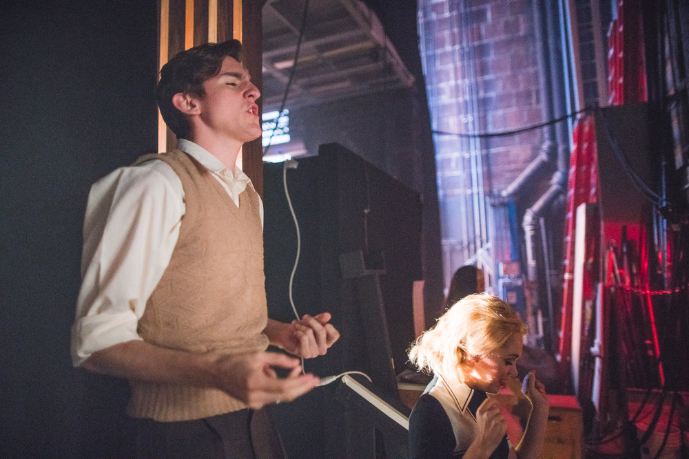 Merrily We Roll Along  backstage with Bransen © 2017 by  Nile Scott Shots