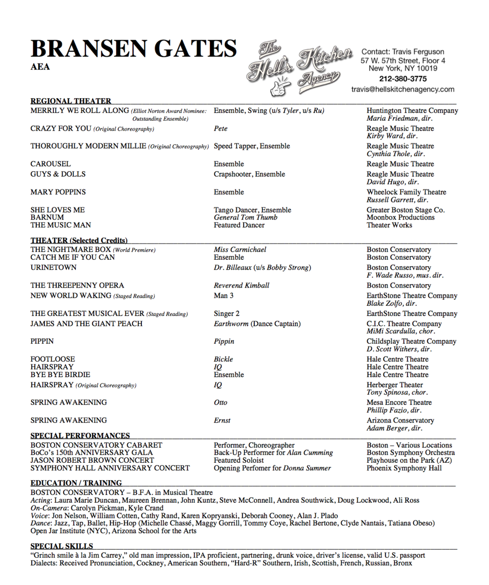 Bransen Gates Resume