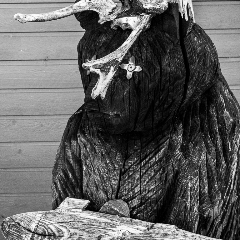 Interesting Sami artwork in Lapland