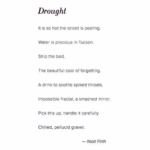#Drought a poem by Niall Firth - - -  This week we will be sharing a series of 6 mini-poems by London-based poet @niallfirth commissioned by #icealive . If you are a scientist or artist interested in contributing to any of our projects or applying for a micro grant, take a look at our website (link in bio).