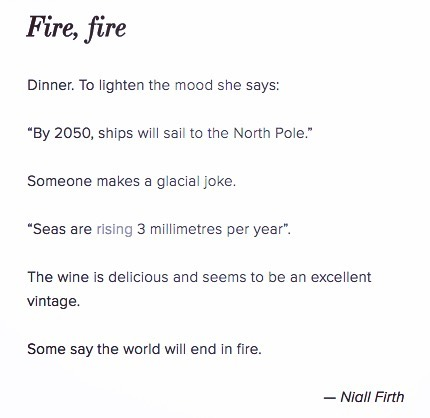 Fire, fire 🔥🔥 a #poem by @niallfirth for #icealive - - - - - - - let us know your thoughts in comments and please share far and wide. If you want to know more about Ice Alive, what we offer and wheat we do, see link in bio ——————— #poetry #climatechangeisreal #climatechange #scicomm #sealevel #sealevelrise
