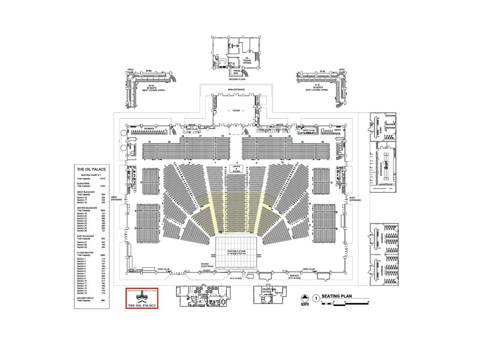 Full Concert (6500+) Seating Chart Image