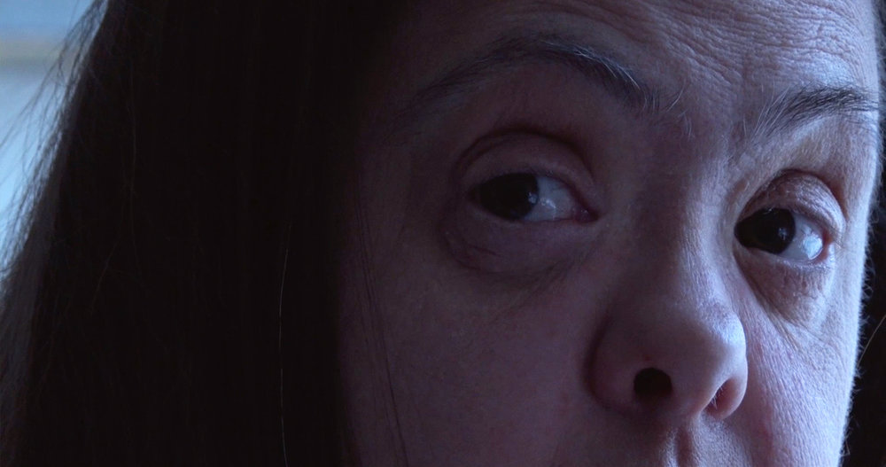 A close up on the eyes of Pili, from the short documentary Pili and Me.