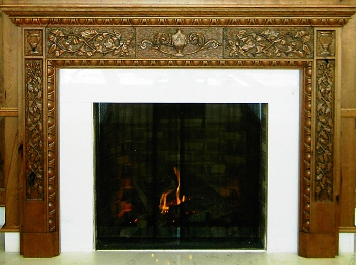 Mantles - No fireplace is complete without a personalized mantle.