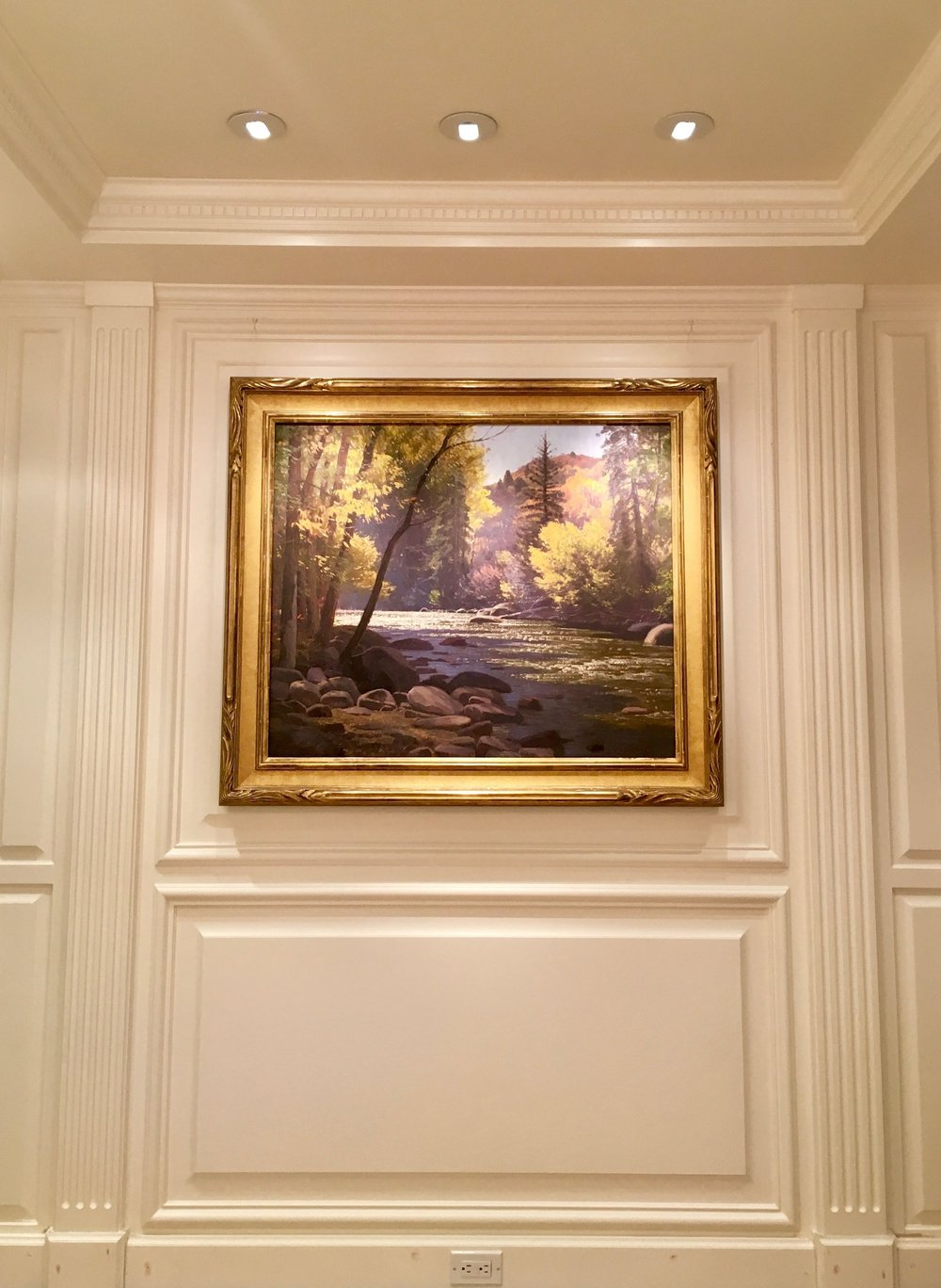 Wall Paneling for Artwork