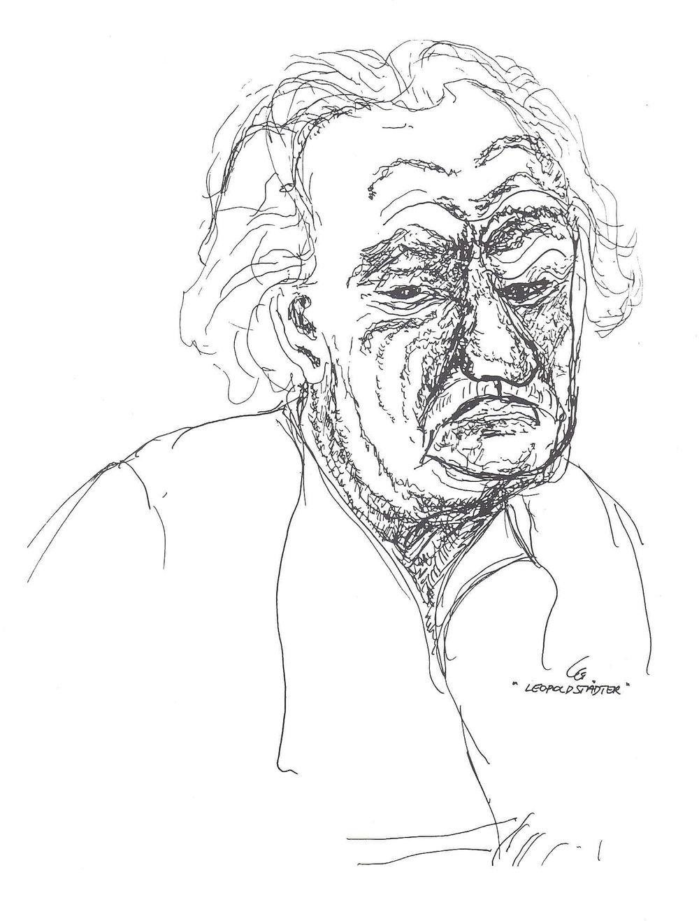 Sad face of old man
