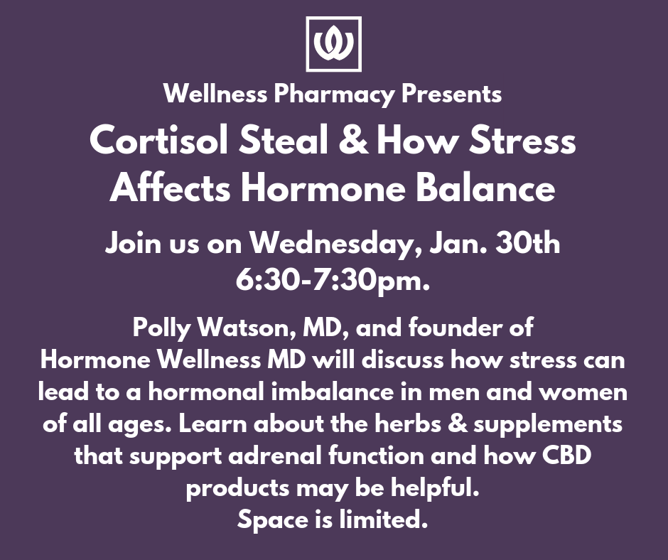 Hormone Wellness Event in Cary, NC at Wellness Pharmacy, Jan. 30 at 6:30pm.
