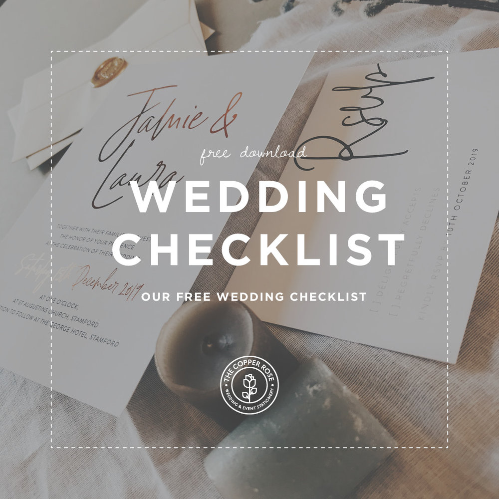 free wedding checklist the copper rose wedding and event