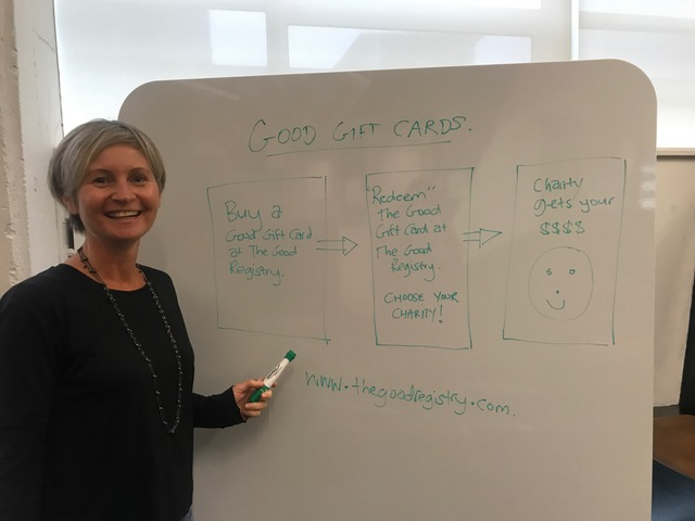 The Good Gift Card concept explained by Christine.