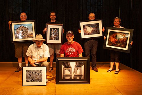 Accomplished (Back Row L-R): Karl Mohr, David Throgmartin, Everett Long, Mary Ellsworth; (Front Row L-R): James Marsala, William Eklund.