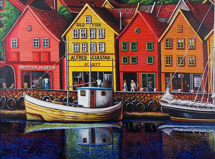 """Bryggen, Norway"" by John Bittner"