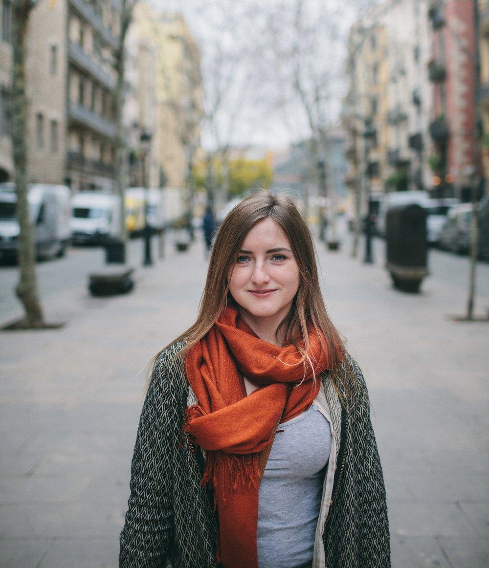 Portrait Girl in el Borne, Barcelona.