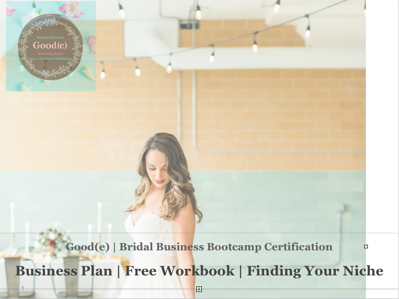 Free Workbook | Business Plan - We couldn't be more excited to bring you this free workbook. Building the business of your dreams is in your hands. Only you can make this happen. There is no time like now to get this started!