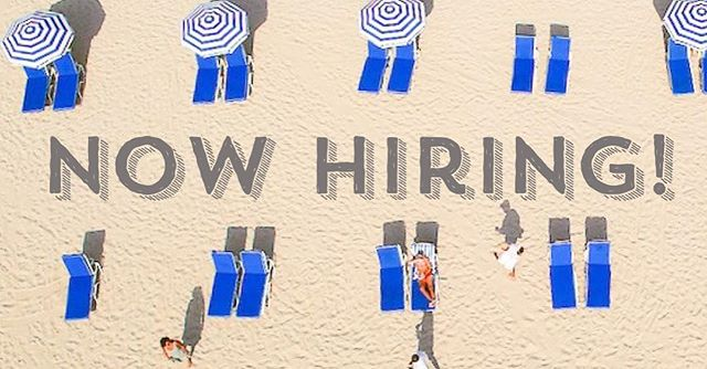Looking 👀 for a sweet summer job ? Hit us up or tag a friend who would love ❤️ to work on the beach this summer! ☀️