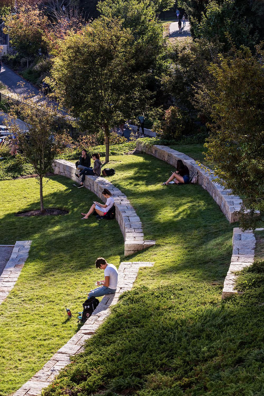 Granite Retaining Wall  Boston College Chestnut Hill, MA