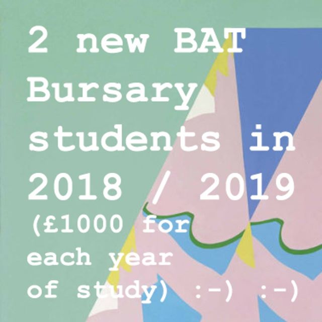 We love giving money to students! Its just been confirmed that 2 more UAL students will receive the BAT Bursary of £1000 each year for the rest of their study.  That's 8 students todate since the bursary launch in 2015. :-) You can read more here: https://www.tfea.org.uk/bat-bursary and link in bio.  #BATCollection #BasildonArtsTrust #TFEA #UAL #BATBursary #artstudents #creativecareers