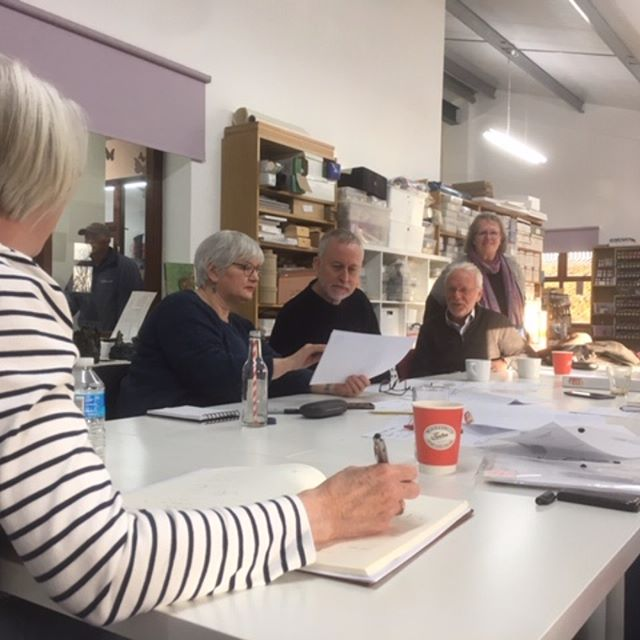 Planning in progress for #basildon70  event in September - we have lots of ideas - but how about you? Come and join us and tell us what you would like to see or get involved if you are an artist or other creative person. We are holding an open ideas session this Thursday 21st 7.30 @towngatetheatre upstairs in the Gielgud Room with extra fun from Poetry In Commotion open mic and some storytelling! Thanks for hosting the meeting @craftarena and good to see you @maybe_suewillis @liz.grant910 @newart_gallery_alfriston + Colin.