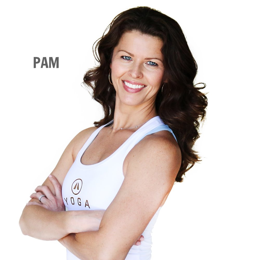 yoga instructor pam kessinger smiling with arms crossed