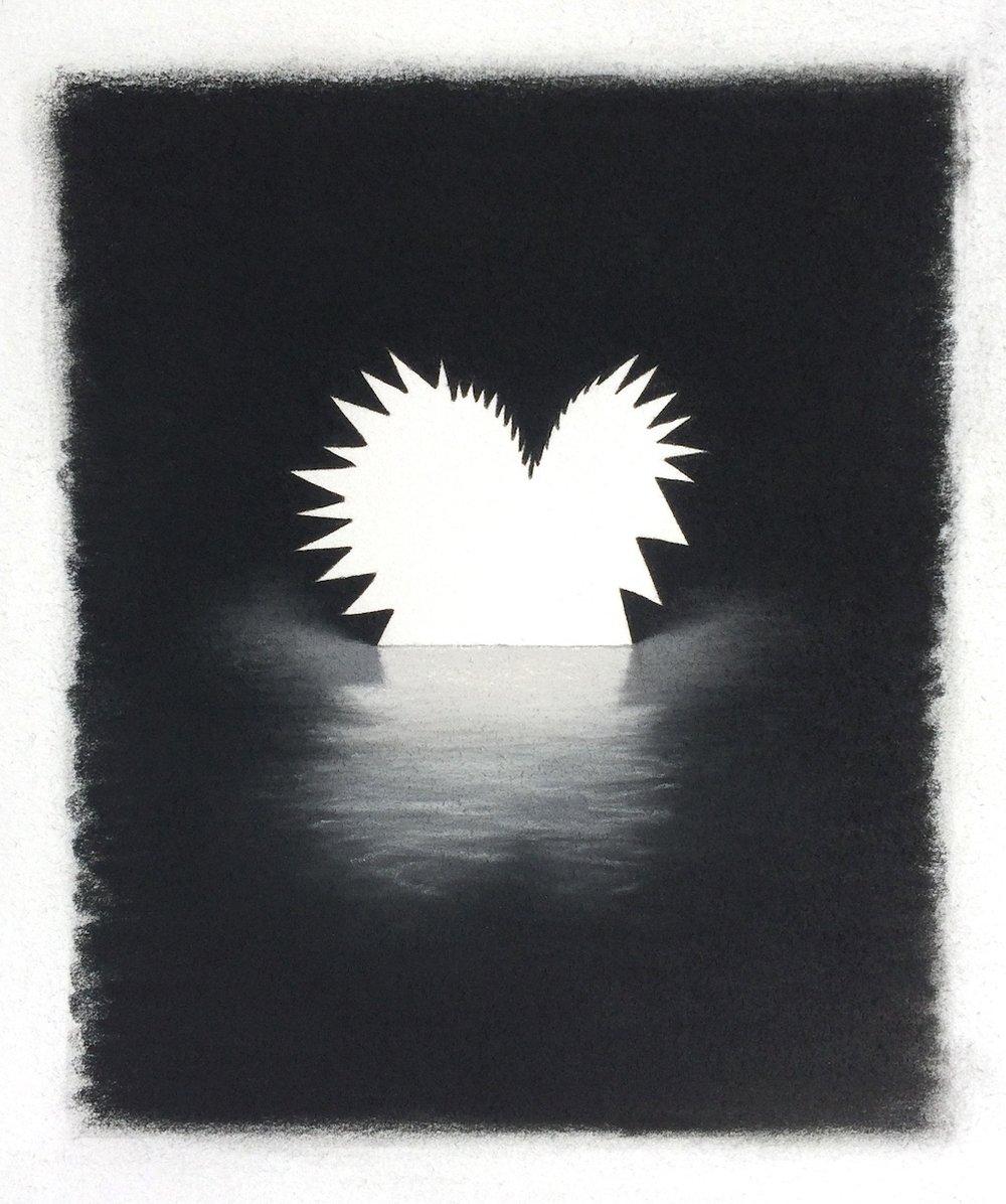 "Henson , pastel on paper, 9""x8"", 2018"