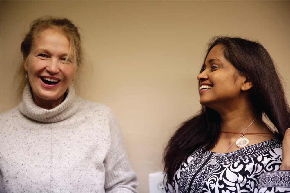 Judy has been practicing at Dharmachakra for 13 years, and Archana for six years