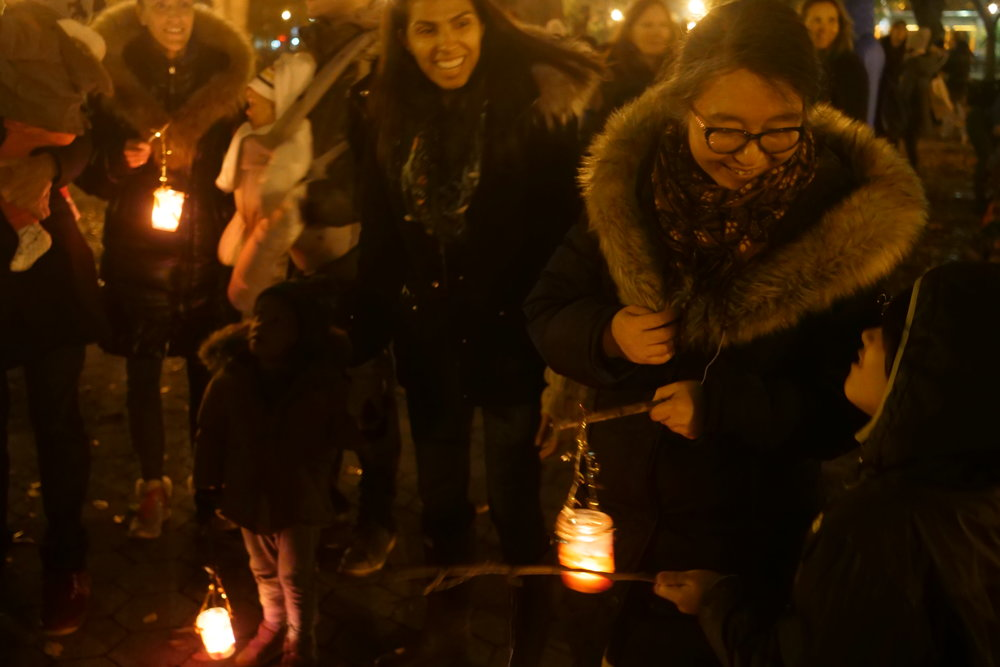 A joyous moment from our Lantern Walk last month.