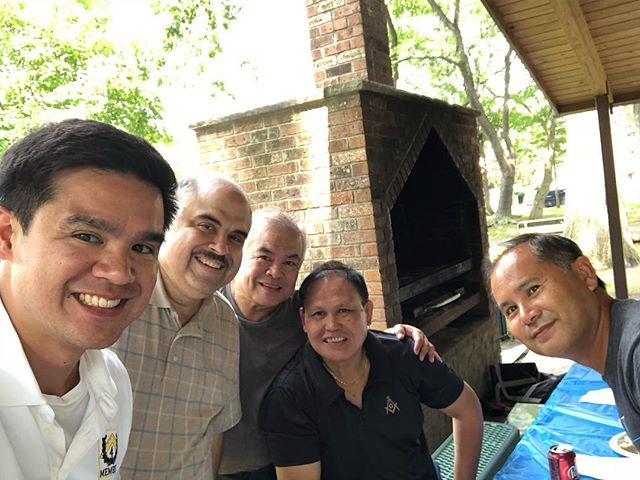 4th Manhattan District Square Club at Secaucus-Hudson Lodge No. 72 (GLNJ) and their Master, WBro. Nomar for their Summer Family Day Picnic.  #nymasons