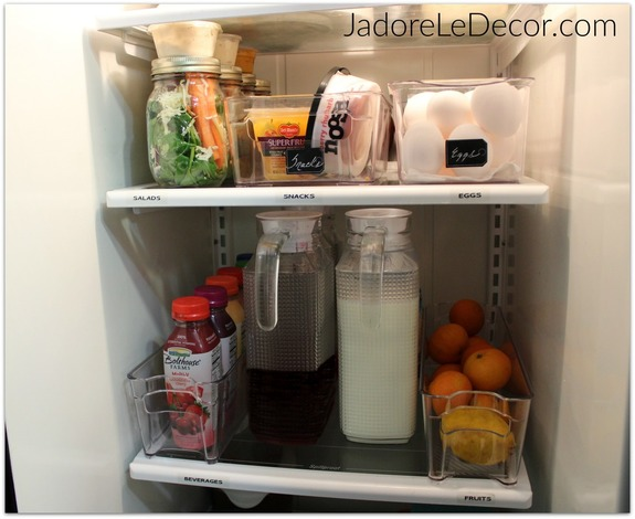 www.JadoreLeDecor.com | How to Organize Your Fridge & Freezer