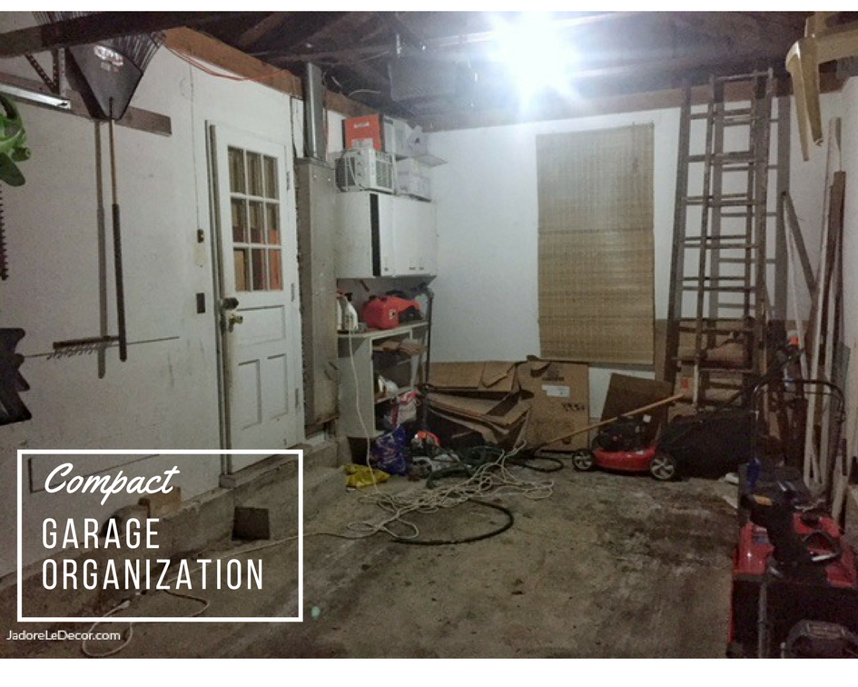www.JadoreLeDecor.com Tips on how to successfully organize a compact one-car garage. | Small garage organization | small space living