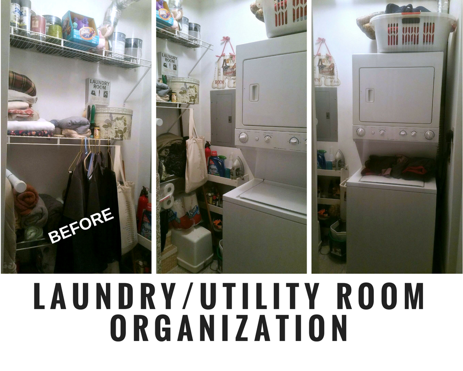 www.JadoreLeDecor.com | A small apartment laundry/utility room gets an overhaul. | Whole House Organization Challenge 2018 Kick-off