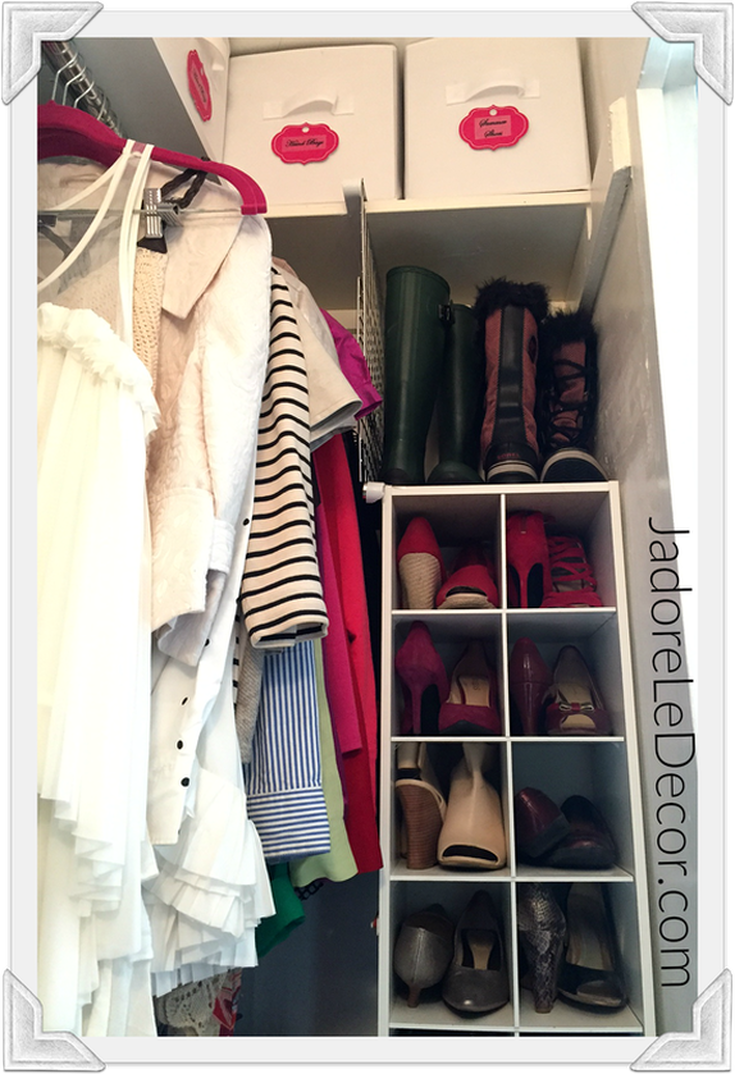 www.JadoreLeDecor.com | Follow these closet organization tips to make getting dressed in the morning more enjoyable. | Small closet organization | Whole House Organization Challenge