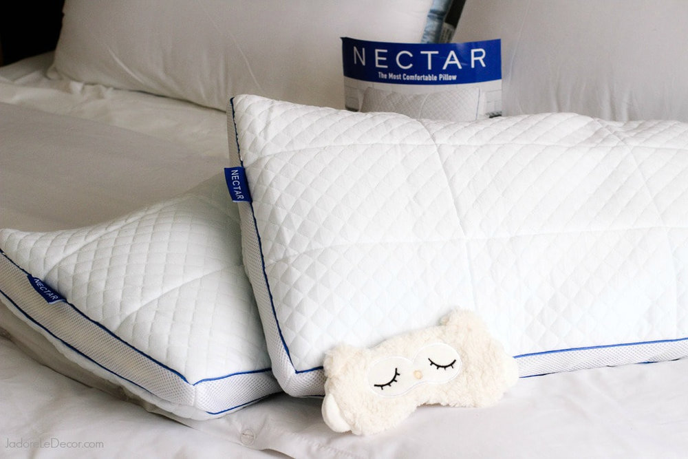 "www.JadoreLeDecor.com | Let me introduce you to an amazing pillow by Nectar while I create the perfect ""cloud"" to sleep under in my bedroom. 