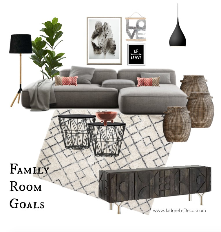 www.JadoreLeDecor.com | The All-Inclusive Family Room | deas for creating a family room to meet the needs of every household member. | Family Room Design | Small Space Living
