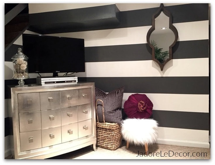 www.JadoreLeDecor.com | We're back on track with week eight of the whole house organization challenge.  Today we're heading to the family room | Small space organization