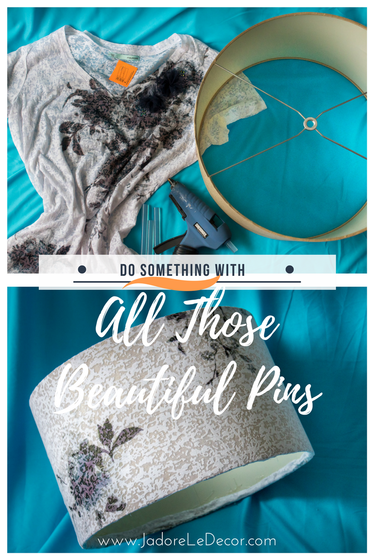 www.JadoreLeDecor.com | An invitation to participate in a Pinterest Challenge inspired me to finally do something some of those beautiful pins | Simple DIY | Small Crafts | Home Decor Crafts