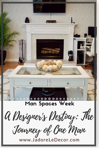 www.JadoreLeDecor.com | Day 3 of Man Spaces Week gives us an engaging story of one man's journey into the world of interiors. It will ground and inspire you. | Small space living | Masucline Interirors & Decor