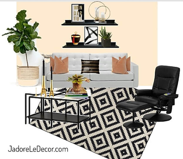 www.JadoreLeDecor.com | For many, apartment living means having to work around undesirable decor or design choices that the renter is restricted to change. Here's the work-around. | Small space living | Apartment Life