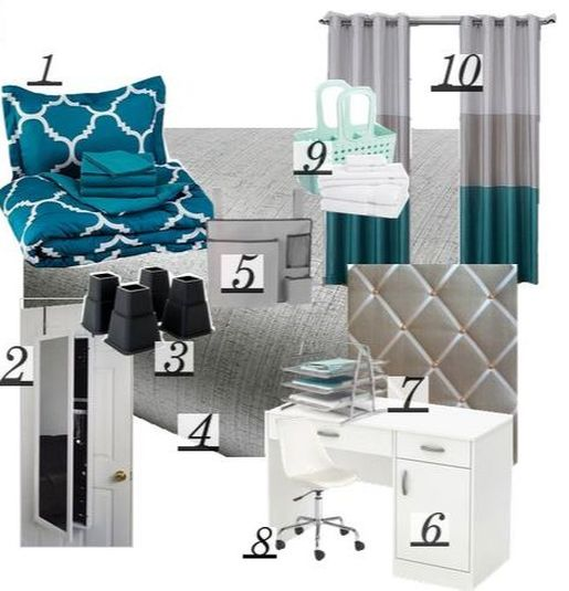 www.JadoreLeDecor.com | Last minute help, and a checklist, for students and parents racing to meet the college dorm deadline. | College Life | Small Space Living