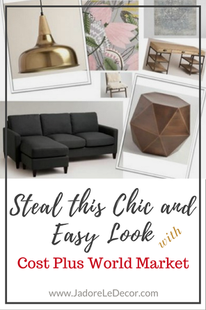 www.JadoreLeDecor.com | Tips - with images - on choosing furnishings for a small first apartment. | First Apartment | Studio Living