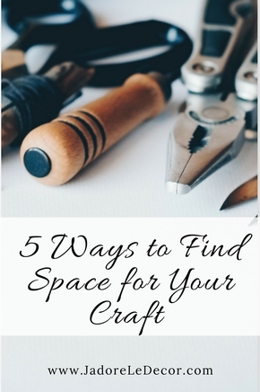 www.JadoreLeDecor.com | Check out these 5 practical ways to create a craft space - even if you live in a small home or apartment. | Small space living